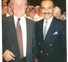 Alt-Ministerpräsident Johannes Rau, Ahmet Tekin, 1996