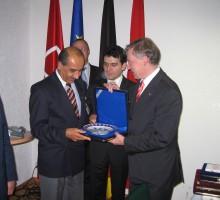 Hasan Tekin, Bundespräsident Horst Köhler, Ahmet Ünalan, 2005